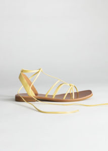 & OTHER STORIES Knotted Leather Lace Up Sandals
